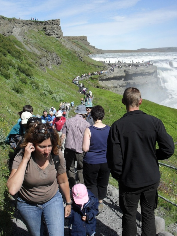 Tourist by Gullfoss