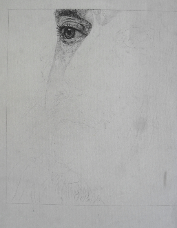 Iggy Pop unfinished drawing