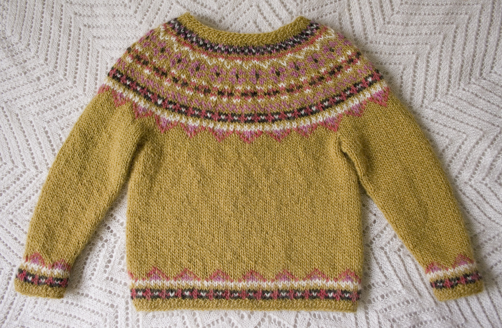 Free Knitting Pattern Fimma Icelandic Sweater Kids Sizes 4 6