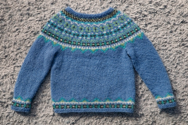 Fimma lopapeysa Icelandic lopi sweater blue