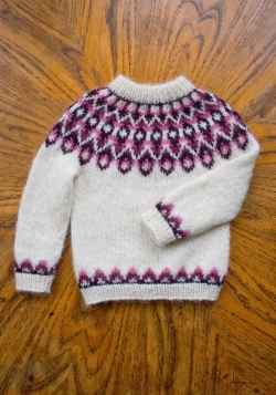 Icelandic lopi wool sweater for kids