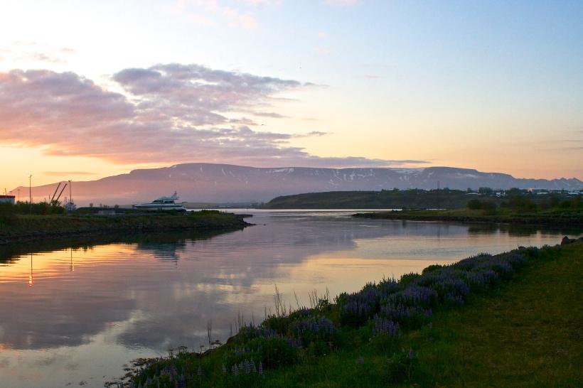 Sunset in Reykjavík Iceland