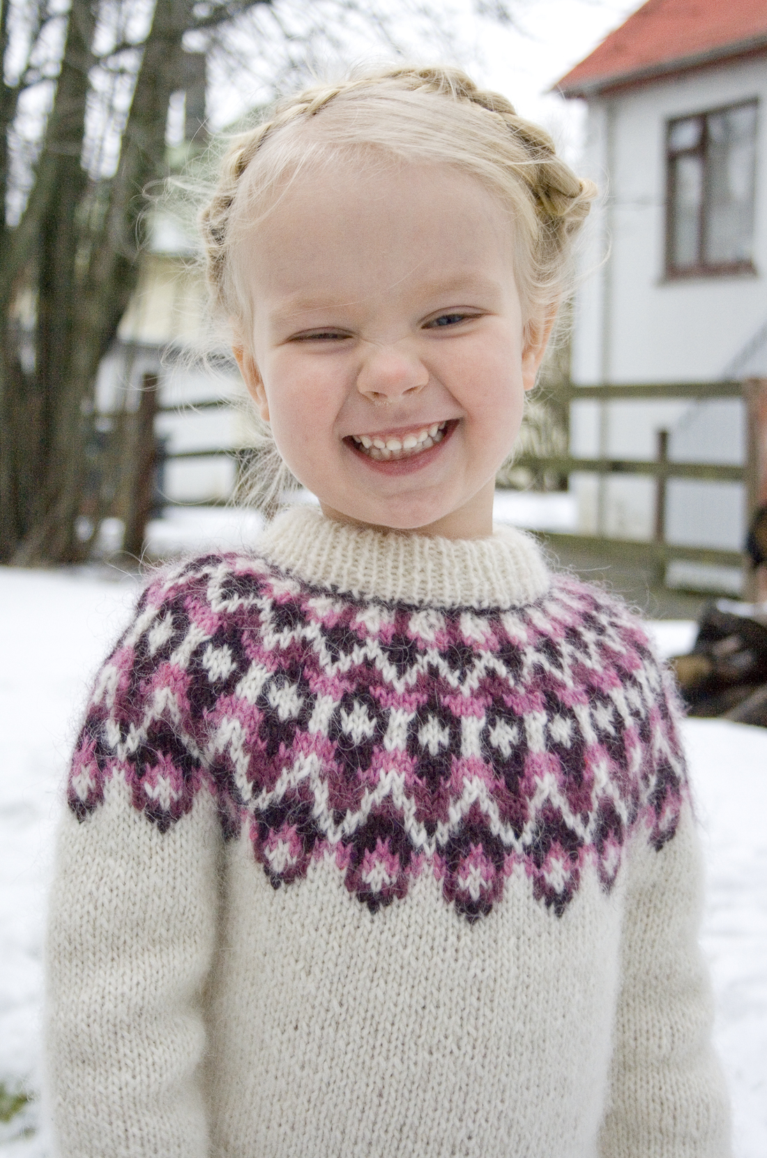 Icelandic Sweater Knitting Pattern : New pattern! ?Blossi?   Icelandic lopi sweater for ...